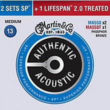 Martin Authentic Acoustic Value Pack Phosphor Bronze Medium Guitar Strings