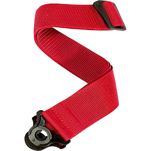 D'Addario Planet Waves Auto Lock Guitar Strap - Poly Red 2 in.