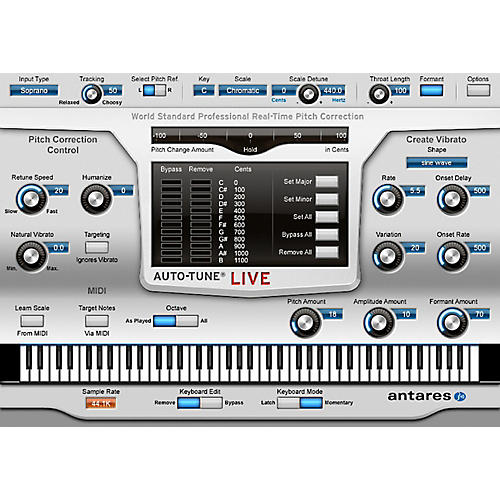 Antares Auto-Tune Live (VST/ AU/ RTAS) Software Download