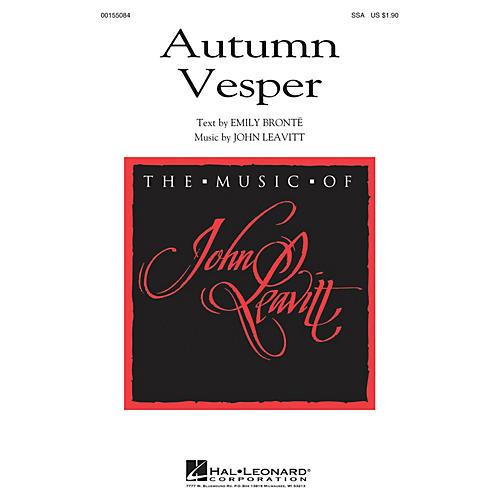 Hal Leonard Autumn Vesper SSA composed by John Leavitt