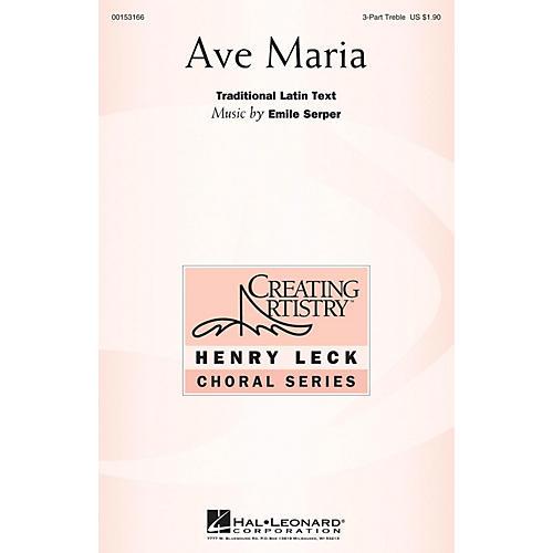 Hal Leonard Ave Maria 3 Part Treble composed by Emile Serper