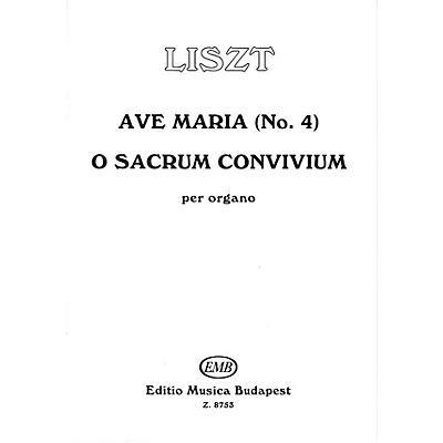 Editio Musica Budapest Ave Maria #4-o Sacrum Conv EMB Series by Franz Liszt