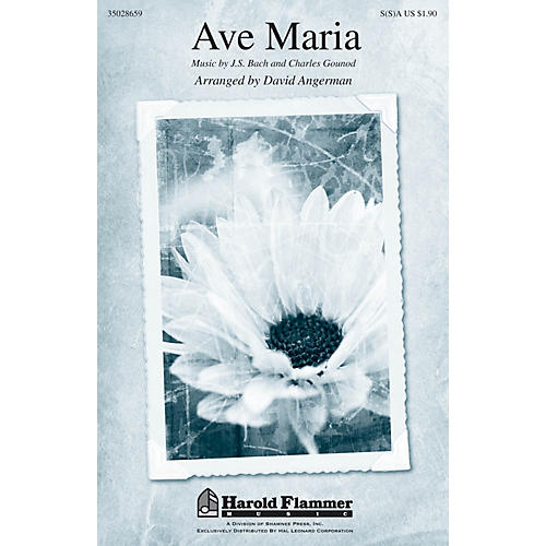 Shawnee Press Ave Maria SA with optional 2nd sop arranged by David Angerman