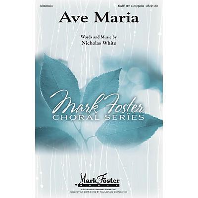 Shawnee Press Ave Maria SATB DV A Cappella composed by Nicholas White
