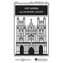 Boosey and Hawkes Ave Maria SATB Double Choir composed by Howard Helvey