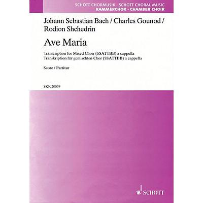 Schott Ave Maria SSATTBB A Cappella Composed by Johann Sebastian Bach Arranged by Rodion Shchedrin
