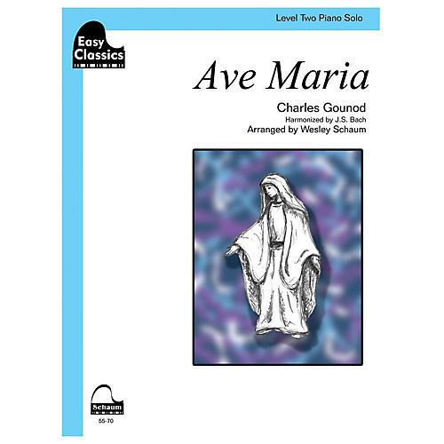 SCHAUM Ave Maria (gounod-bach) Educational Piano Series Softcover