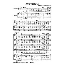 Novello Ave Verum - Op. 2, No. 1 SATB Composed by Edward Elgar