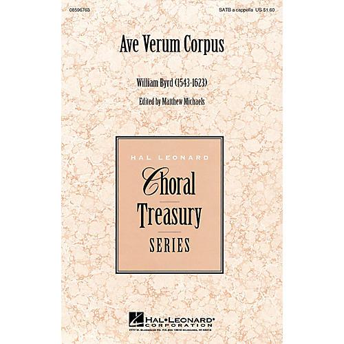 Hal Leonard Ave Verum Corpus SATB a cappella arranged by Matthew Michaels, editor