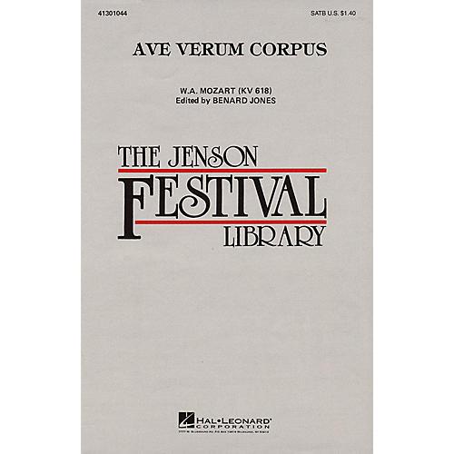 Hal Leonard Ave Verum Corpus SATB arranged by Benard Jones