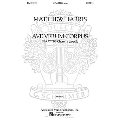 Associated Ave Verum Corpus (SSAATTBB a cappella) SSAATTBB A Cappella composed by Matthew Harris