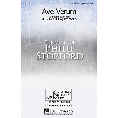 Hal Leonard Ave Verum SATB DV A Cappella composed by Philip Stopford