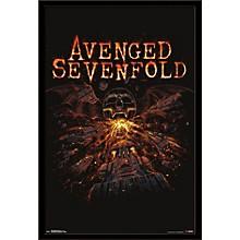 Avenged Sevenfold - Red Poster Framed Black