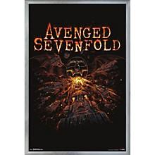 Avenged Sevenfold - Red Poster Framed Silver