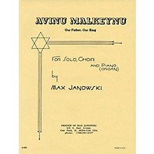 Transcontinental Music Avinu Malkeynu SATB composed by Max Janowski