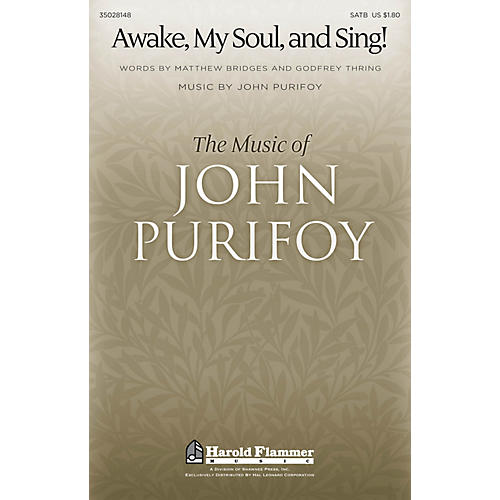 Shawnee Press Awake, My Soul, and Sing! SATB composed by John Purifoy