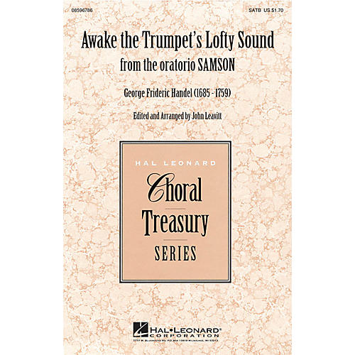 Hal Leonard Awake the Trumpet's Lofty Sound (from Samson) SATB composed by George Frideric Handel