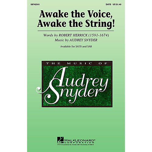 Hal Leonard Awake the Voice, Awake the String! SATB composed by Audrey Snyder