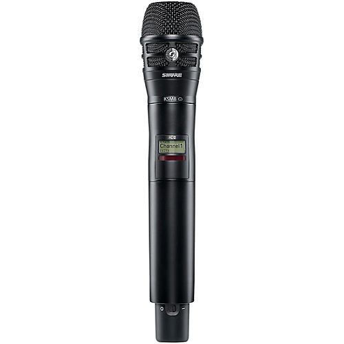 Shure Axient Digital AD2/K8B Handheld Wireless Transmitter with Black KSM8 Microphone
