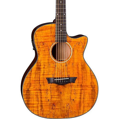 Dean Axs Exotic Gloss Spalt Maple Cutaway Acoustic-Electric Guitar