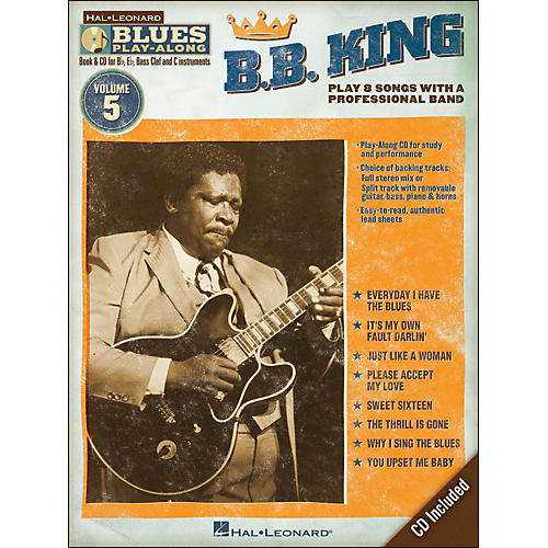 Hal Leonard B.B. King - Blues Play-Along Volume 5 Book/CD