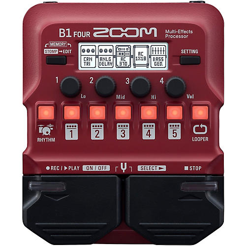 Zoom B1 FOUR Bass Multi-Effects Processor