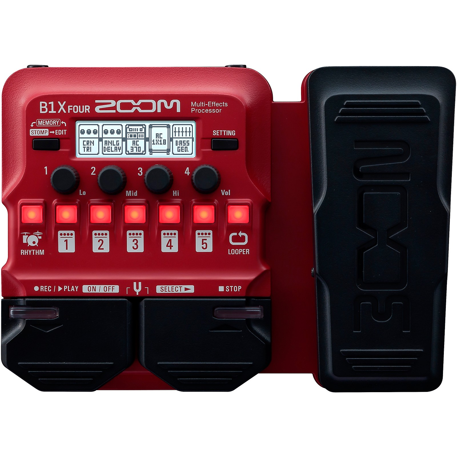 Zoom B1X FOUR Bass Multi-Effects Processor with Expression Pedal