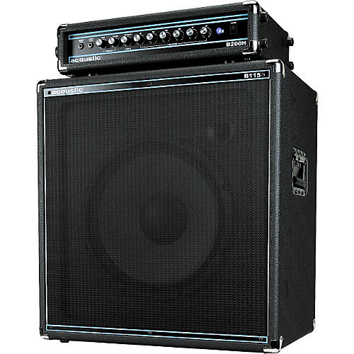 Acoustic B200H 200W Bass Head and B115 250W 1x15 Bass Cab Package
