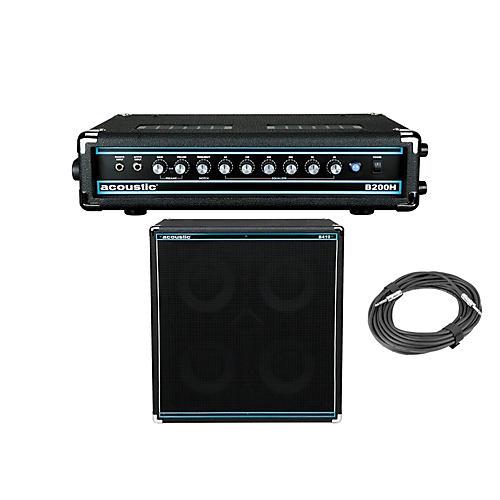 Acoustic B200H 200W Bass Head and B410 4x10 400W Bass Cab