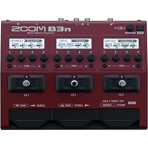 zoom b3n multi effects bass guitar processor musician 39 s friend. Black Bedroom Furniture Sets. Home Design Ideas