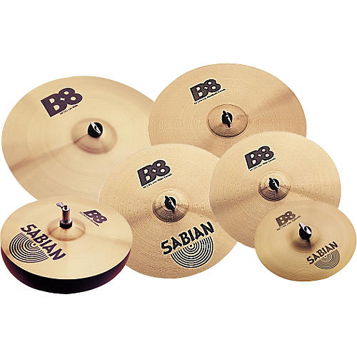 sabian b8 cymbal pack with free 10 splash and 18 crash musician 39 s friend. Black Bedroom Furniture Sets. Home Design Ideas