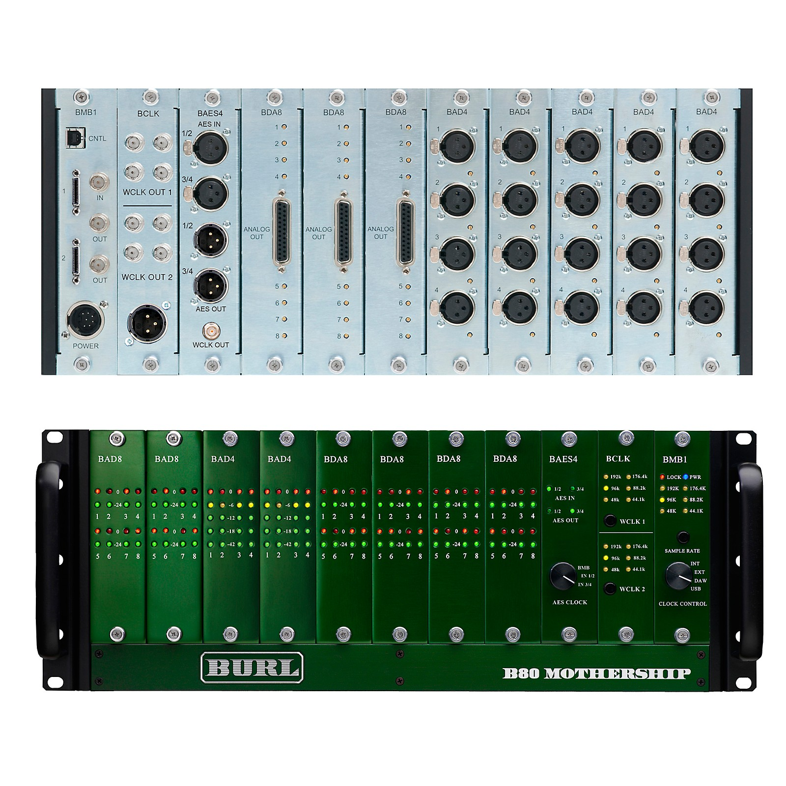 Burl Audio B80 Mothership Chassis with BP300 power supply BMB1 Mini-DigiLink Motherboard