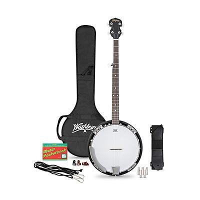 Washburn B8K-A Americana 5-String Resonator Banjo Pack