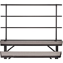 BACKRAILS FOR STANDING CHORAL RISERS FOR 3 LEVEL, TAPERED