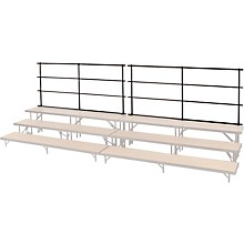 BACKRAILS FOR STANDING CHORAL RISERS FOR 4 LEVEL, TAPERED