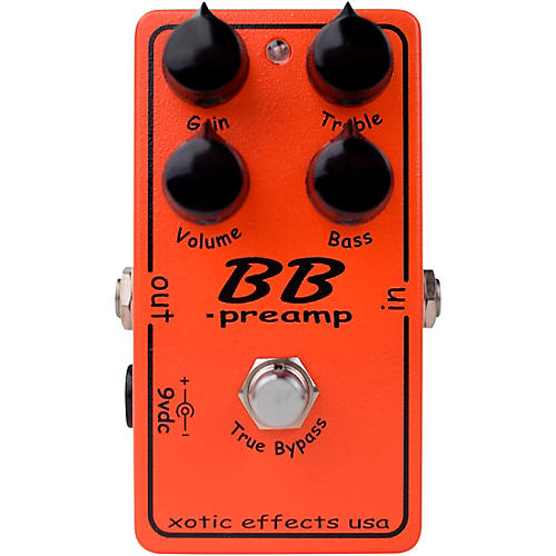 xotic effects bb preamp overdrive guitar effects pedal musician 39 s friend. Black Bedroom Furniture Sets. Home Design Ideas