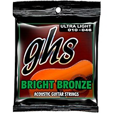 GHS BB10U 80/20 Bronze Ultra Light Acoustic Guitar Strings