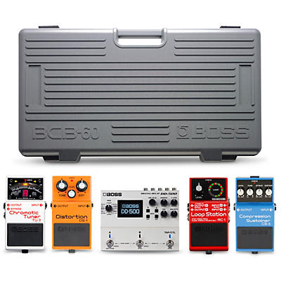 Boss BCB-60 Pedal Board Players Pack with TU-3 Chromatic Tuner, DS-1 Distortion, RC-1 Loop Center, CS-3 Compression Sustainer and DD-500 Digital Delay Effects Pedals