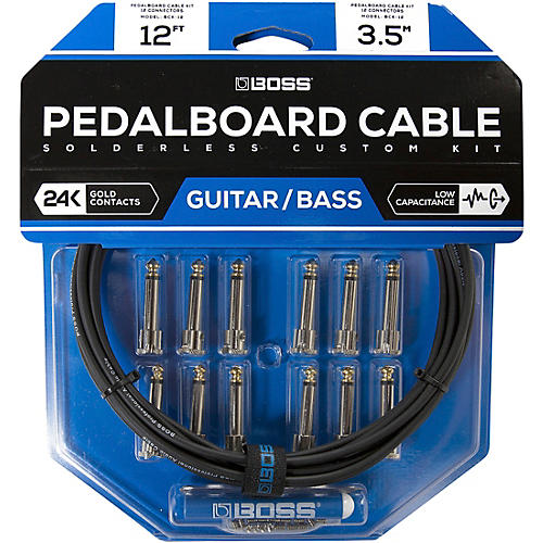 Boss BCK-12 Pedalboard Cable Kit, 12 Connectors 12 ft. Black