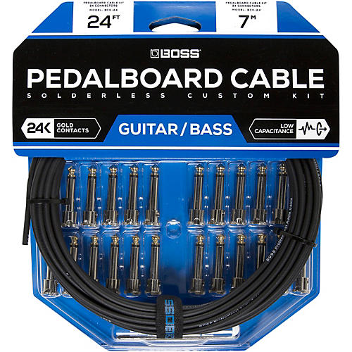 Boss BCK-24 Pedalboard Cable Kit, 24 Connectors 24 ft. Black