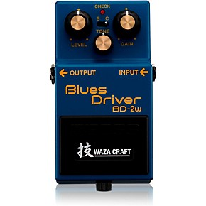 boss bd 2w blues driver waza craft guitar effects pedal musician 39 s friend. Black Bedroom Furniture Sets. Home Design Ideas