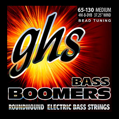 GHS BEAD Tuned Bass Boomers Medium (65-130) Strings
