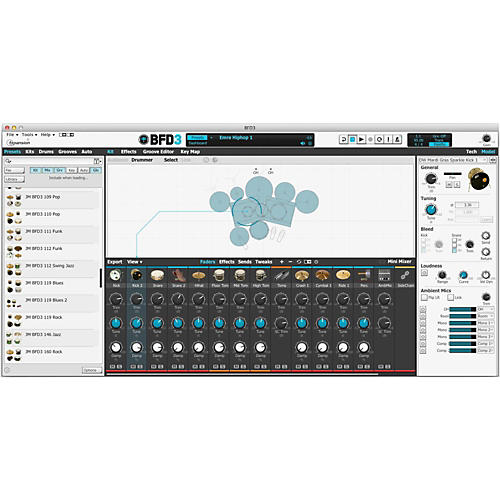 Fxpansion BFD3 Acoustic Drum Studio Virtual Instrument