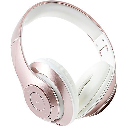 SoundLogic BFHM-12/6708 Foldable HD Bluetooth Headphones Pink