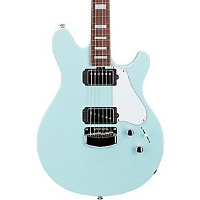 ernie ball music man bfr valentine electric guitar baby blue musician 39 s friend. Black Bedroom Furniture Sets. Home Design Ideas
