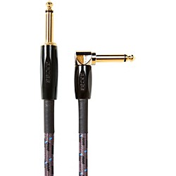 """BIC-25A 7.5 m Instrument Cable, Angled/Straight 1/4"""" Jack - 25' 25 ft. Black"""