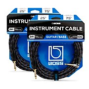 BIC-25A Angled To Straight Instrument Cable 25ft. - 2-Pack