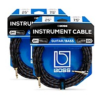 Deals on 2-Pack Boss BIC-25A Angled To Straight Instrument Cable 25ft.