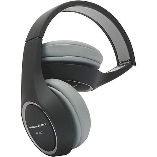 American Audio BL-40 Folding On-Ear Headphones Black