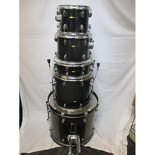 BLACK 5PC Drum Kit